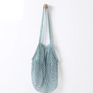 Handbags - Boutique Teal Net Tote, Blue French Shopping Bag